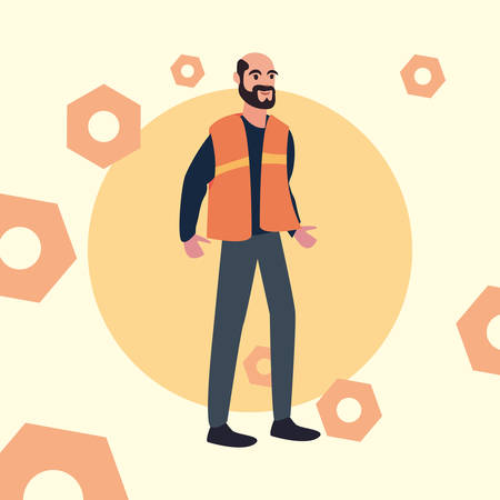 worker employee profession labour day vector illustration Stock Illustratie