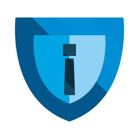 shield protection alert cybersecurity data vector illustration