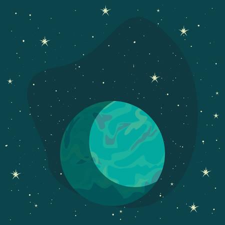planet space stars galaxy vector illustration design Illusztráció