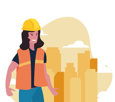 worker woman employee labour day vector illustration Stock Illustratie