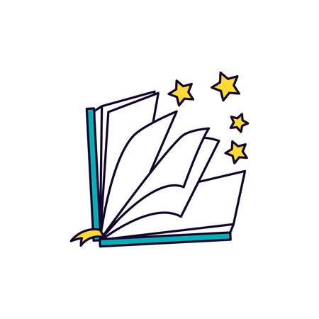 koran book at night ramadan kareem vector illustration design