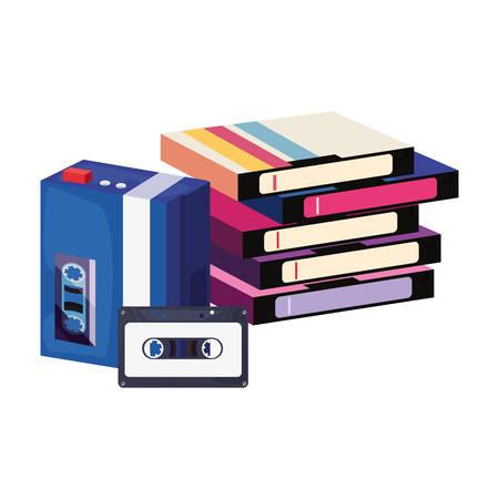 videotape beta music cassette portable music retro 80s style