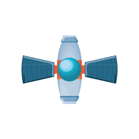 space satellite isolated icon vector illustration design Reklamní fotografie - 128733003