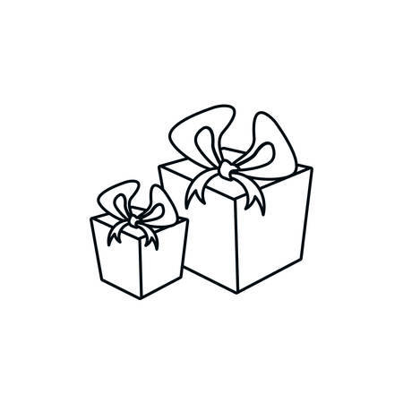 gifts boxes isolated icon vector illustration design Stock Illustratie