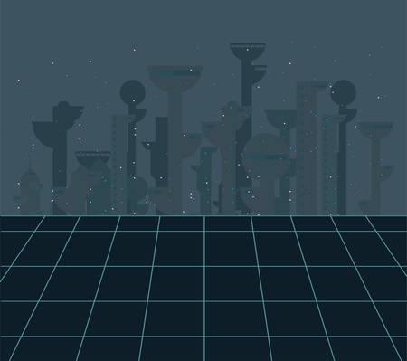 future building architecture city space vector illustration Standard-Bild - 128808162