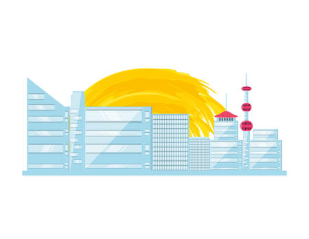 traditional architecture of china isolated icon vector illustration design Standard-Bild - 128820580