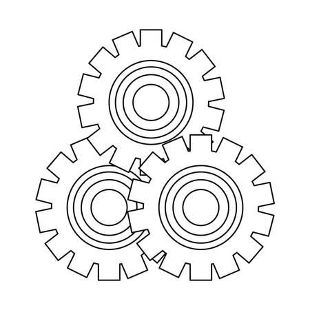 gears wheel engine outline desing vector illustration Standard-Bild - 128823785