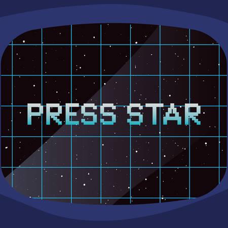 screen background video game retro vector illustration design Illusztráció