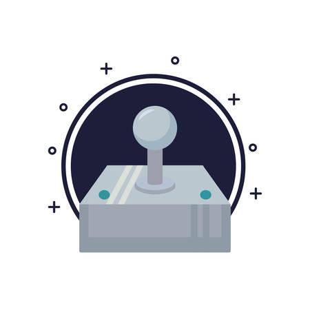 video game joystick control pixelate icon vector illustration design Illusztráció