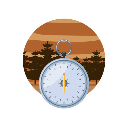 compass guide in frame circular vector illustration design