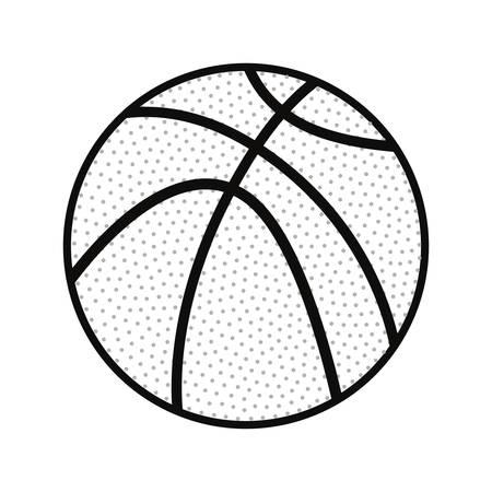 basketball ball sport vector illustration design graphic