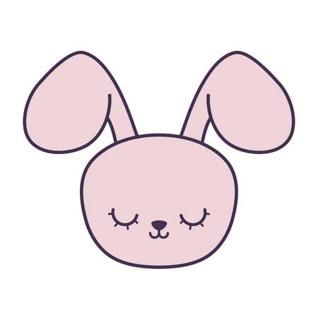 head of cute rabbit animal character vector illustration design Archivio Fotografico - 128862156
