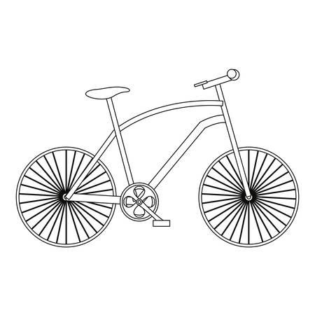 outline bicycle transport on white background vector illustration Ilustrace
