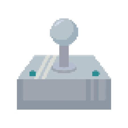 video game joystick control pixelate icon vector illustration design Illustration