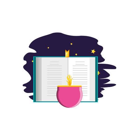koran book with candle ramadan kareem vector illustration design