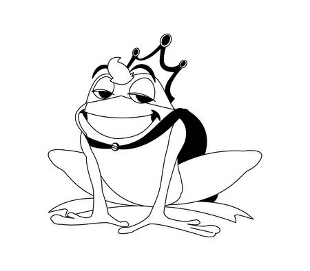 toad prince fairytale character vector illustration design 矢量图像