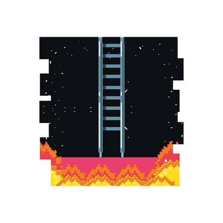 video game pixelate scene vector illustration design Illustration
