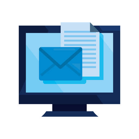 computer email cybersecurity data protection vector illustration Illustration