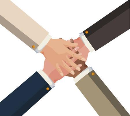 hands teamwork unity icon vector illustration design