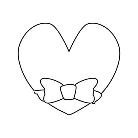bow tie heart love happy fathers day vector illustration