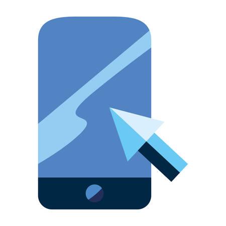 cellphone arrow cursor vector illustration design design Archivio Fotografico - 129148599