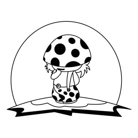 fungu elf in garden magic character vector illustration design Standard-Bild - 129228049