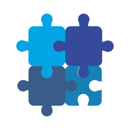 puzzles pieces connection strategy vector illustration design vector illustration