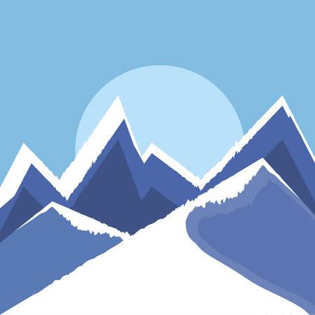 winter landscape scene christmas vector illustration design Çizim