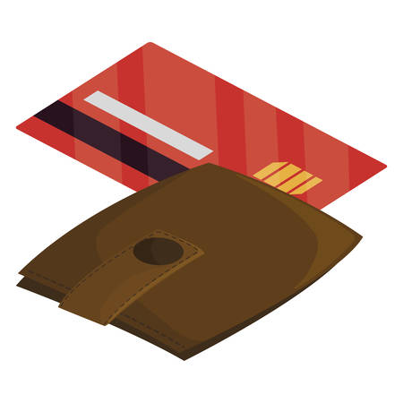 credit card with wallet money vector illustration design Stockfoto - 129231366
