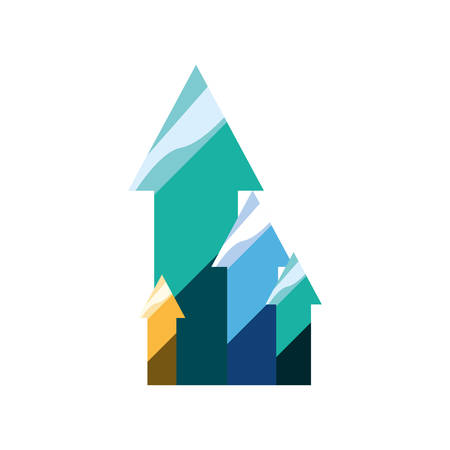 growth arrows chart report business vector illustration Ilustração