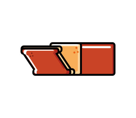 delicious bread slice icon vector illustration design Standard-Bild - 129232587