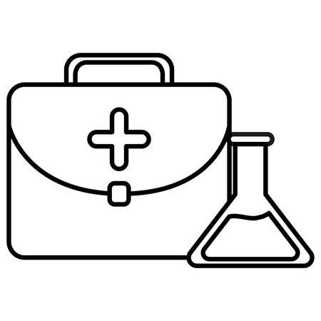 medical kit with tube test vector illustration design Stock Illustratie