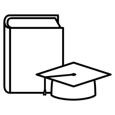 text book with graduation hat vector illustration design 向量圖像