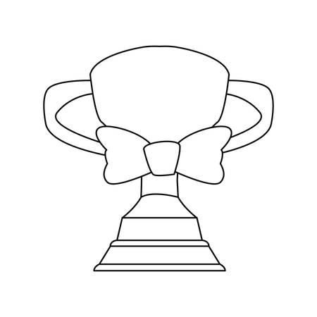 award trophy bow tie happy fathers day vector illustration Stock Illustratie