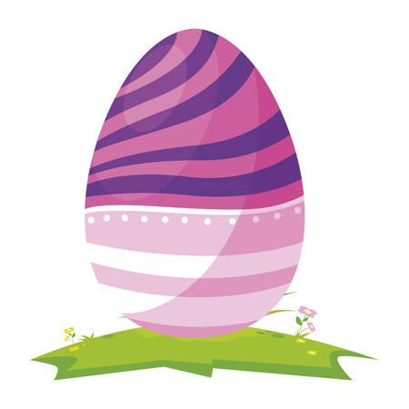 happy easter egg painted in camp vector illustration design Stock Illustratie