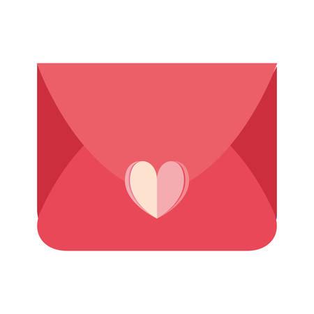romantic mail love heart message vector illustration Foto de archivo - 129186079