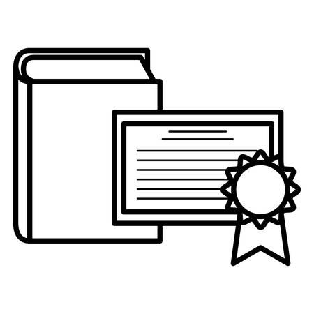 text book and diploma vector illustration design Standard-Bild - 129186143