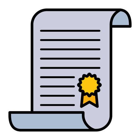 graduation certificate with medal vector illustration design Standard-Bild - 129186150