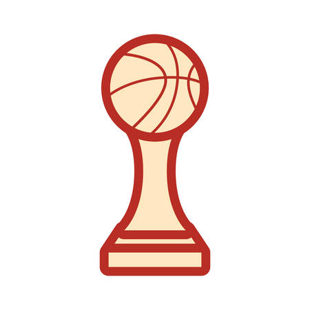 trophy ball basketball sport award vector illustration Standard-Bild - 129228988