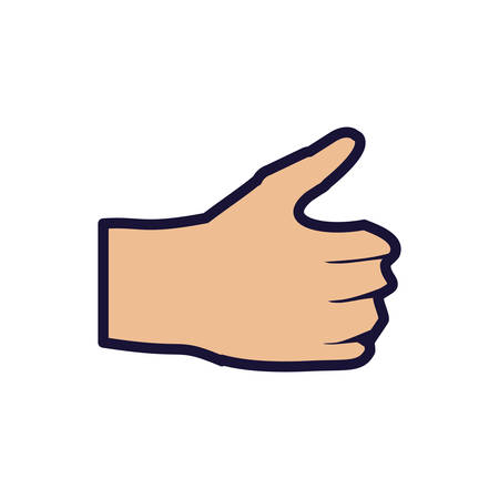 hand ok symbol isolated icon vector illustration design Stock Illustratie