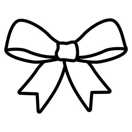 cute bow tie isolated icon vector illustration design Stock Illustratie