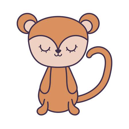 cute monkey animal isolated icon vector illustration design Foto de archivo - 129201673