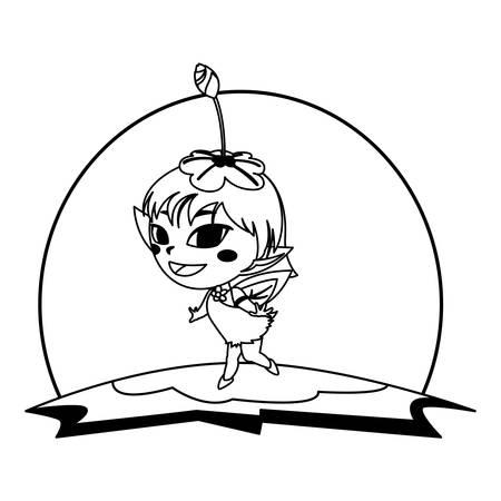 beautiful magic fairy in the camp vector illustration design Standard-Bild - 129227941