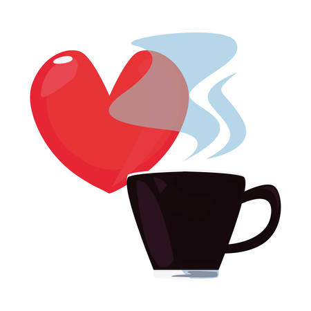 coffee cup heart love happy fathers day vector illustration 일러스트