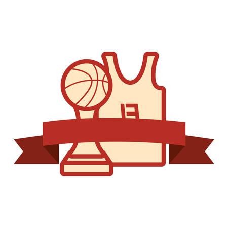 basketball tank top sport jersey trophy vector illustration Фото со стока - 129240162