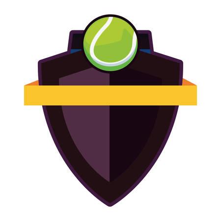 tennis ball sport emblem banner vector illustration design