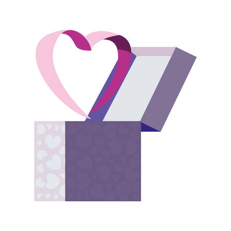 gift box love heart romantic vector illustration 向量圖像
