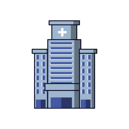 hospital structure isolated icon vector illustration design Ilustracja