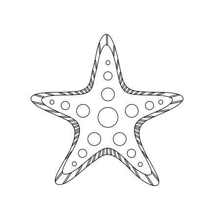 starfish tropical isolated icon vector illustration design