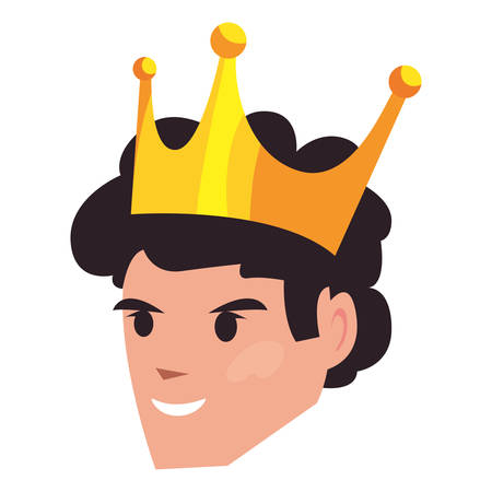 face dad with crown happy fathers day vector illustration Stockfoto - 129240177